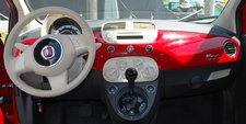 April 2012 Dream SeQueL Trip 027 -Dashboard of our rented Fiat 500