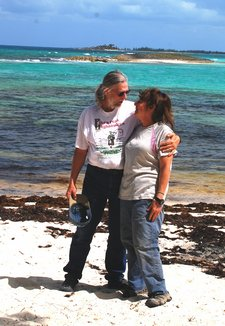 April 2012 Dream SeQueL Trip 133 -Jim and Barbara on a Green Turtle Cay beach