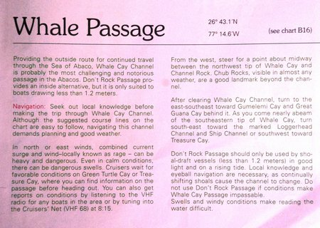 April 2012 Dream SeQueL Trip 148 -Whale Passage description
