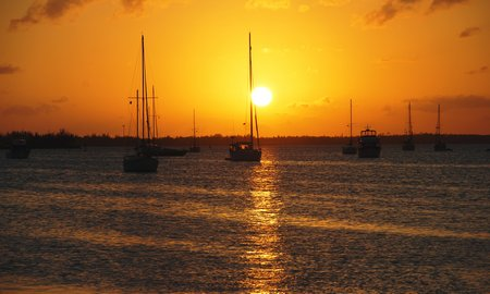April 2012 Dream SeQueL Trip 165 -Sunset over Marsh Harbour, Bahamas -1